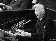 Adenauer, primeiro chanceler federal da Alemanha Ocidental