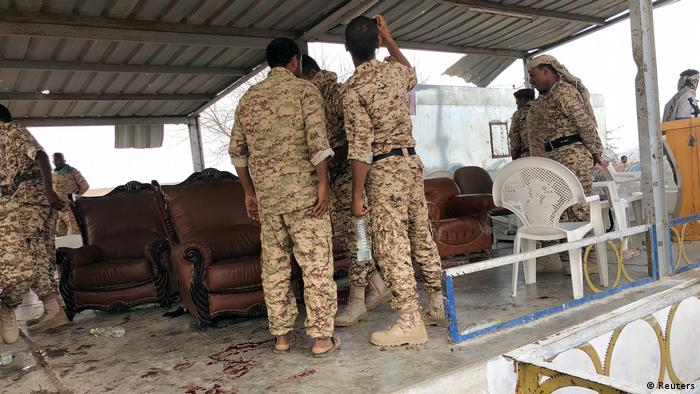 Jemen Drohnenangriff von Huthi-Rebellen auf eine Militärparade (Reuters)