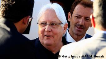 Jemen Ankunft Martin Griffiths in Sanaa