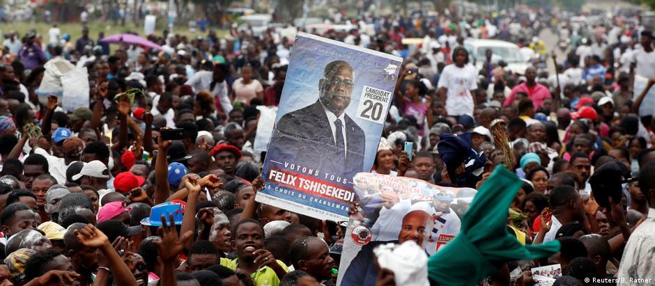 Adeptos de Tshisekedi comemoram vitória