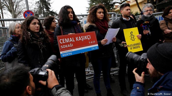 Amnesty International Demonstration Istanbul Khashoggi