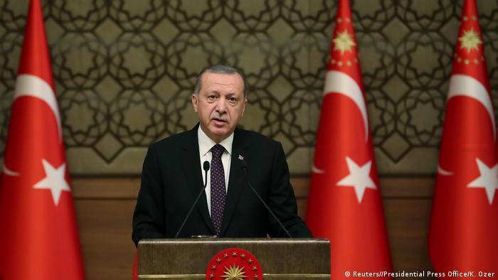 Türkei, Ankara: Erdogan spricht auf einer Zeremonie