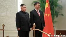 China, Peking: Der nordkoreanische Staatschef Kim Jong Un trifft Präsident Xi Jinping