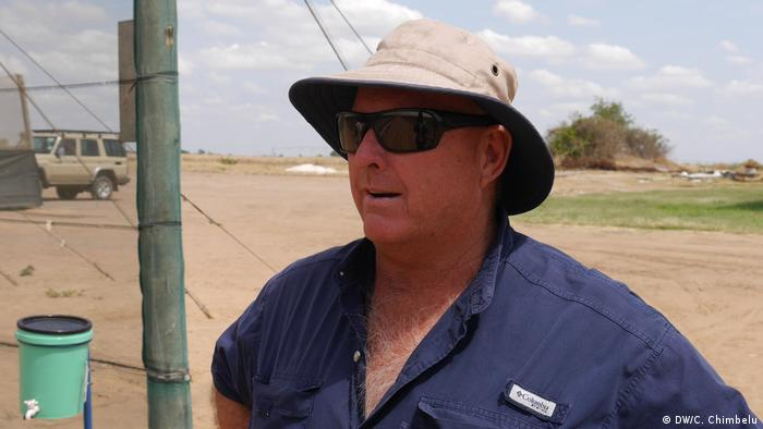 Zimbabwean farmer Grahame Rae on his farm in Chisamba, Zambia
