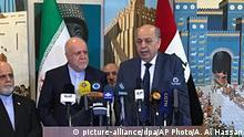 Irak   Treffen der Ölminister   Thamir Ghadhban und Bijan Zanganeh