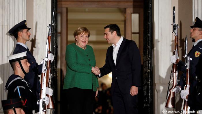 Griechenland, Athen: Staatsbesuch Angela Merkel