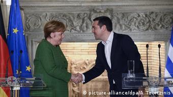 Η καγκελάριος Άνγκελα Μέρκελ με τον πρωθυπουργό Αλέξη Τσίπρα