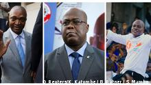 Bildkombi: Präsidentschaftskandidaten für die bevorstehenden Wahlen in der Demokratischen Republik Kongo