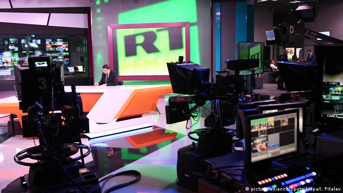 Inside the RT studios in Moscow