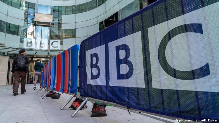 UK Großbritannien l BBC Hauptzentrale in London