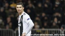 Ronaldo playing for Juventus