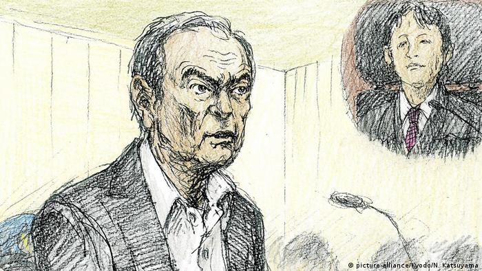 Carlos Ghosn in court
