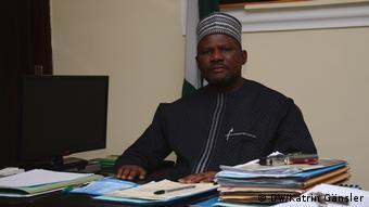 State secretary Abdullahi Shinkafi at his desk