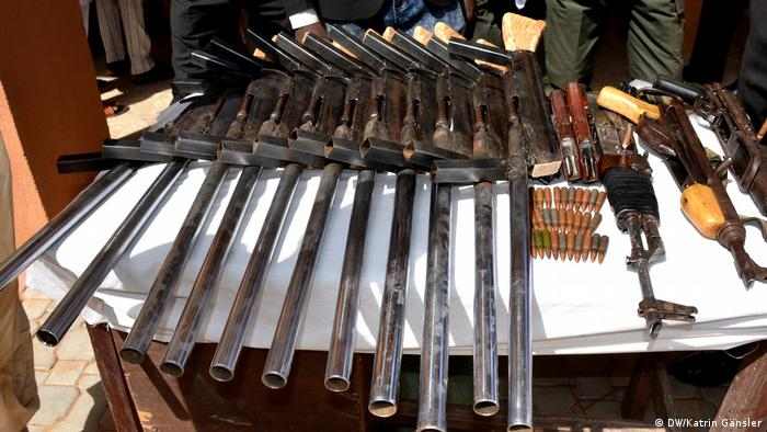 A selection of guns seized by olice in Zamfara.