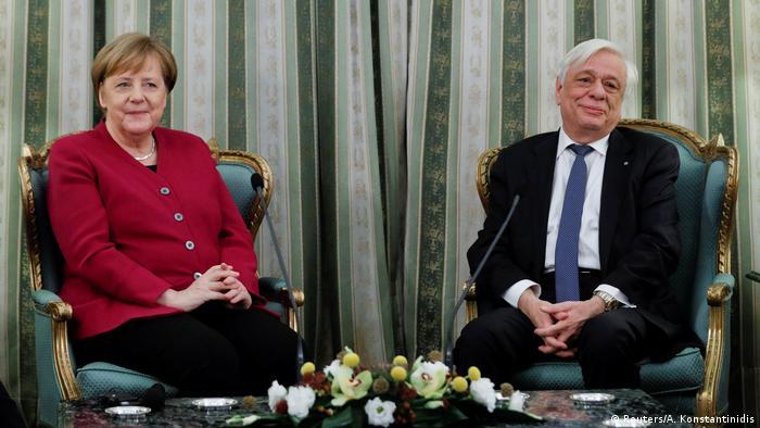 Griechenland, Athen: Staatsbesuch Angela Merkel und Prokopis Pavlopoulos