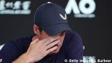 2019 Australian Open - Andy Murray weint