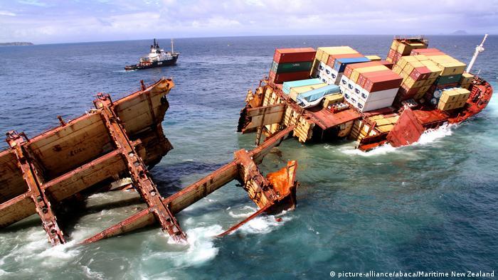 سفينة الشحن رينا اصطدمت بشعب مرجانية قبالة سواحل نيوزيلندا