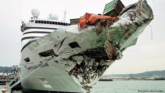 Bildergalerie Containerschiffe Havarie (picture-alliance/dpa)