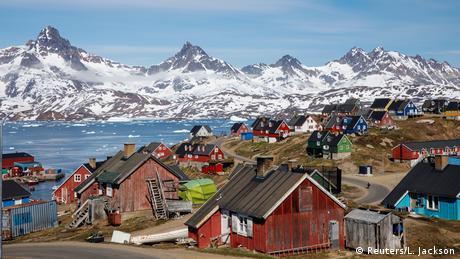 Cidade de Tasiilaq, na Groenlândia