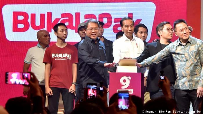 President Jokowi beim Bukalapak Jubiläum (Rusman - Biro Pers Sekretariat Presiden)