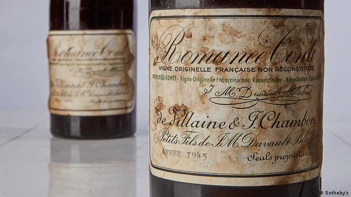 Two bottles of Romanee Conti DRC from 1945