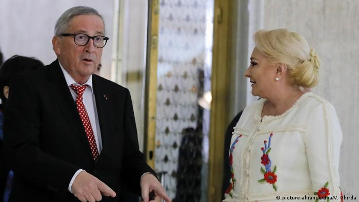 Bukarest Juncker in Rumänien