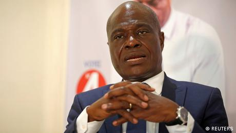 FILE PHOTO: Martin Fayulu, the joint opposition presidential candidate in Democratic Republic of Congo, speaks during an interview with Reuters in the capital Kinshasa (REUTERS)