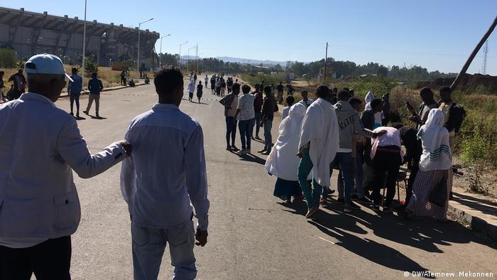 Äthiopien Bulehora Universität Studenten (DW/Alemnew Mekonnen)