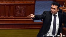 Parlament in Skopje Mazedonien Umbenennung zu Republik Nordmazedonien Zoran Zaev