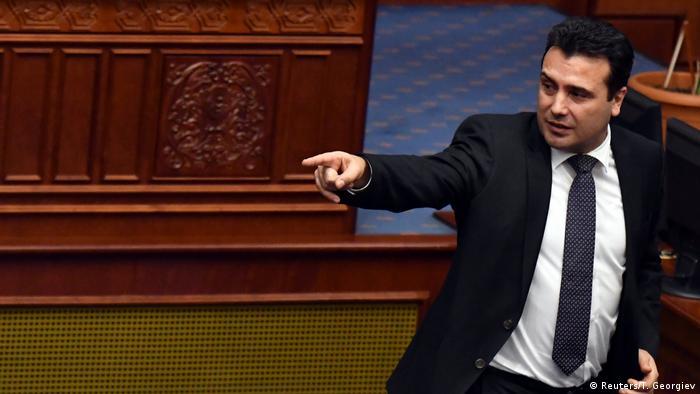Parlament in Skopje Mazedonien Umbenennung zu Republik Nordmazedonien Zoran Zaev (Reuters/T. Georgiev)