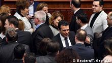 Parlament in Skopje Mazedonien Umbenennung zu Republik Nordmazedonien