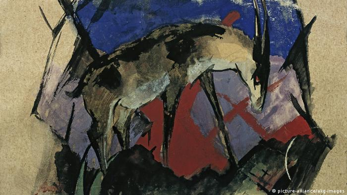 A Franz Marc postcard featuring an antelope picture-alliance/akg-images)