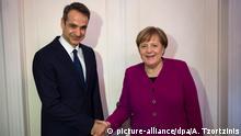 Griechenland-Besuch Angela Merkel bei Oppositionsführer Kyriakos Mitsotakis