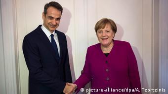 Ο Μητσοτάκης σε συνάντηση με την καγκελάριο Μέρκελ το 2018 στο Βερολίνο