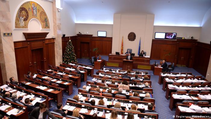 Mazedonien, Skopje: Parlamentssitzung über Verfassungsänderung (Regierung Mazedonien)