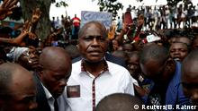 FILE PHOTO: Martin Fayulu, runner-up in Democratic Republic of Congo's presidential election, arrives at a political rally in Kinshasa, Democratic Republic of Congo, January 11, 2019. REUTERS/Baz Ratner/File Photo