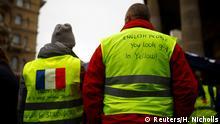 Frankreich, Normandie: Solidarität mit den Gelbwestenprotesten in England