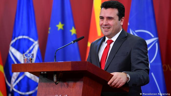 Mazedonien Skopje - Pressekonferenz: Premierminister Zoran Zaev