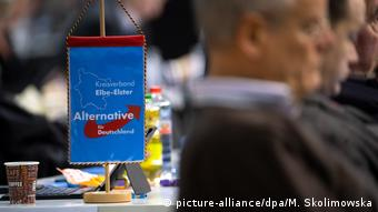 An AfD flag at the party convention