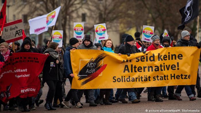 Protesters in Riesa