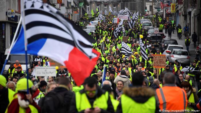 Frankreich Gelbwesten Proteste in Saint-Brieuc (Getty Images/AFP/D. Meyer)