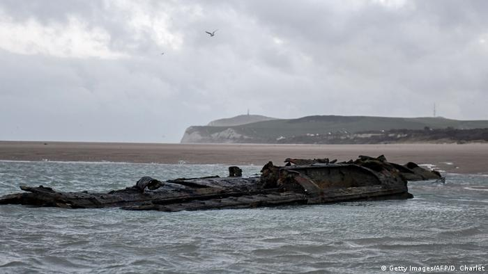 Remains of a German WWI submarine (Getty Images/AFP/D. Charlet)
