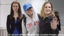 Kanada Rahaf Mohammed el-Kunun und Chrystia Freeland