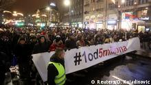 Serbien Proteste gegen die Regierung in Belgrad