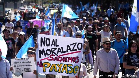Guatemala pro-Cicig-Proteste in Guatemala-Stadt (Getty Images /AFP/O. Estrada)