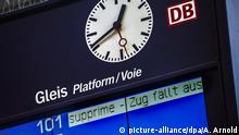 Detuschland Bahn - Zugverspätung