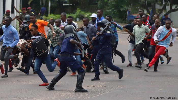 DR Kongo Unterstützer von Martin Fayulu in Kinshasa