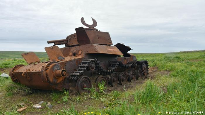 A former Japanese Imperial Army tank left behind on Shumshu Island