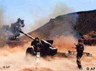 صحنهای از  نبرد ارتش یمن علیه شورشیان شیعی در استان صعده یمن (تاریخ انتشار عکس توسط  ارتش یمن: ۳۱ اوت ۲۰۰۹)