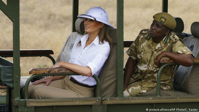 Kenia - Melania Trump im Nairobi National Park (picture-alliance/AP Photo/C. Kaster)